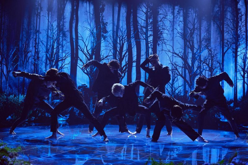 BTS delivered barefoot performance of 'Black Swan' on The Late Late Show