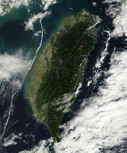 Taiwan vista desde el espacio el pasado día 21 de Noviembre. NASA.