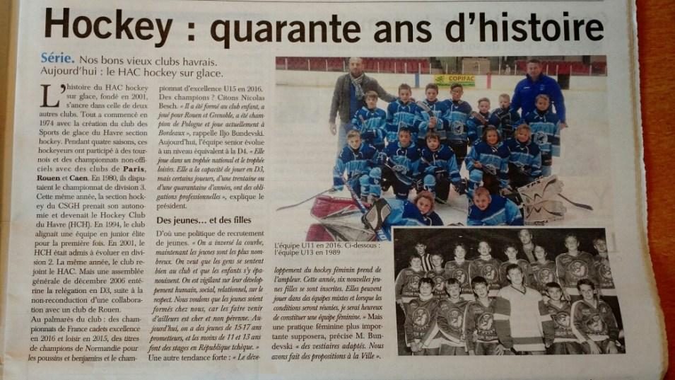 L'article de Paris Normandie du 26 octobre 2017
