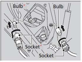 Honda Accord: Taillight and Back-Up Light Bulbs