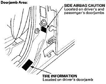 Honda Accord: Danger/Warning/Caution Label Locations (cont