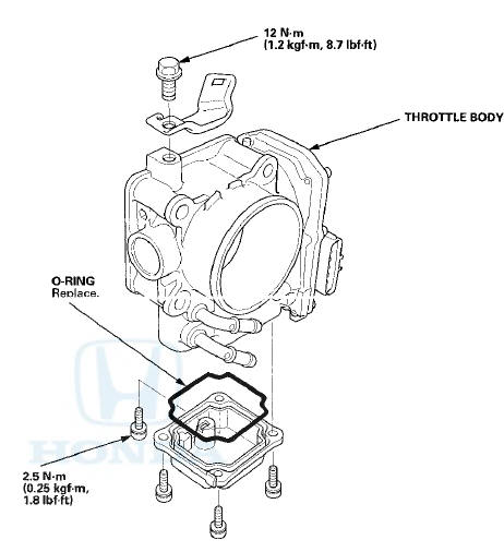 Honda Accord: Throttle Body Disassembly/Reassembly