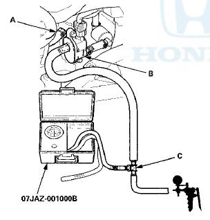 Honda Accord: Fuel Cap Warning Message System