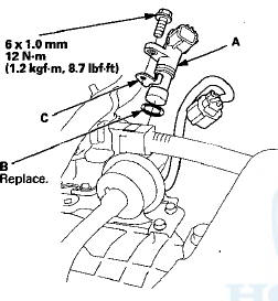 Honda Accord: Output Shaft (Countershaft) Speed Sensor