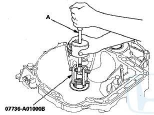 Honda Accord: Mainshaft Bearing and Oil Seal Replacement