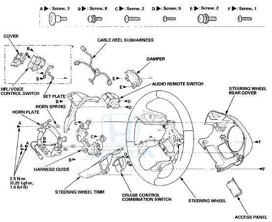 Honda Accord: Steering Wheel Disassembly/Reassembly