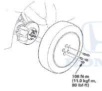 Honda Accord: Knuckle/Hub/Wheel Bearing Replacement