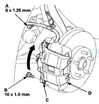Honda Accord: Front Brake Pad Inspection and Replacement