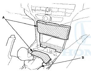 Honda Accord: Center Pocket Removal/Installation