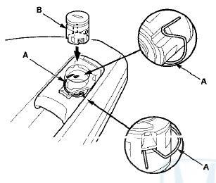 Honda Accord: Glove Box Lock Cylinder Replacement