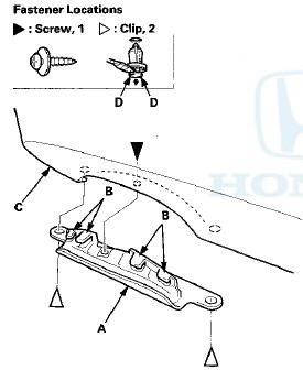 Honda Accord: Rear Bumper Finisher Cover Replacement