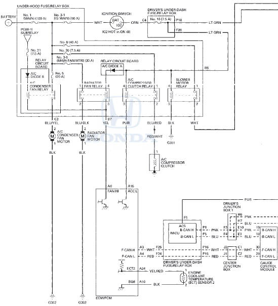 Wiring Diagram For Honda Accord / Diagram Wiring Diagram