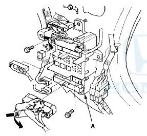 Honda Accord: Passenger's Under-dash Fuse/Relay Box (MICU