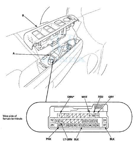 Honda Accord: Power Window Master Switch Input Test