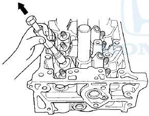 Honda Accord: Valve, Spring, and Valve Seal Removal