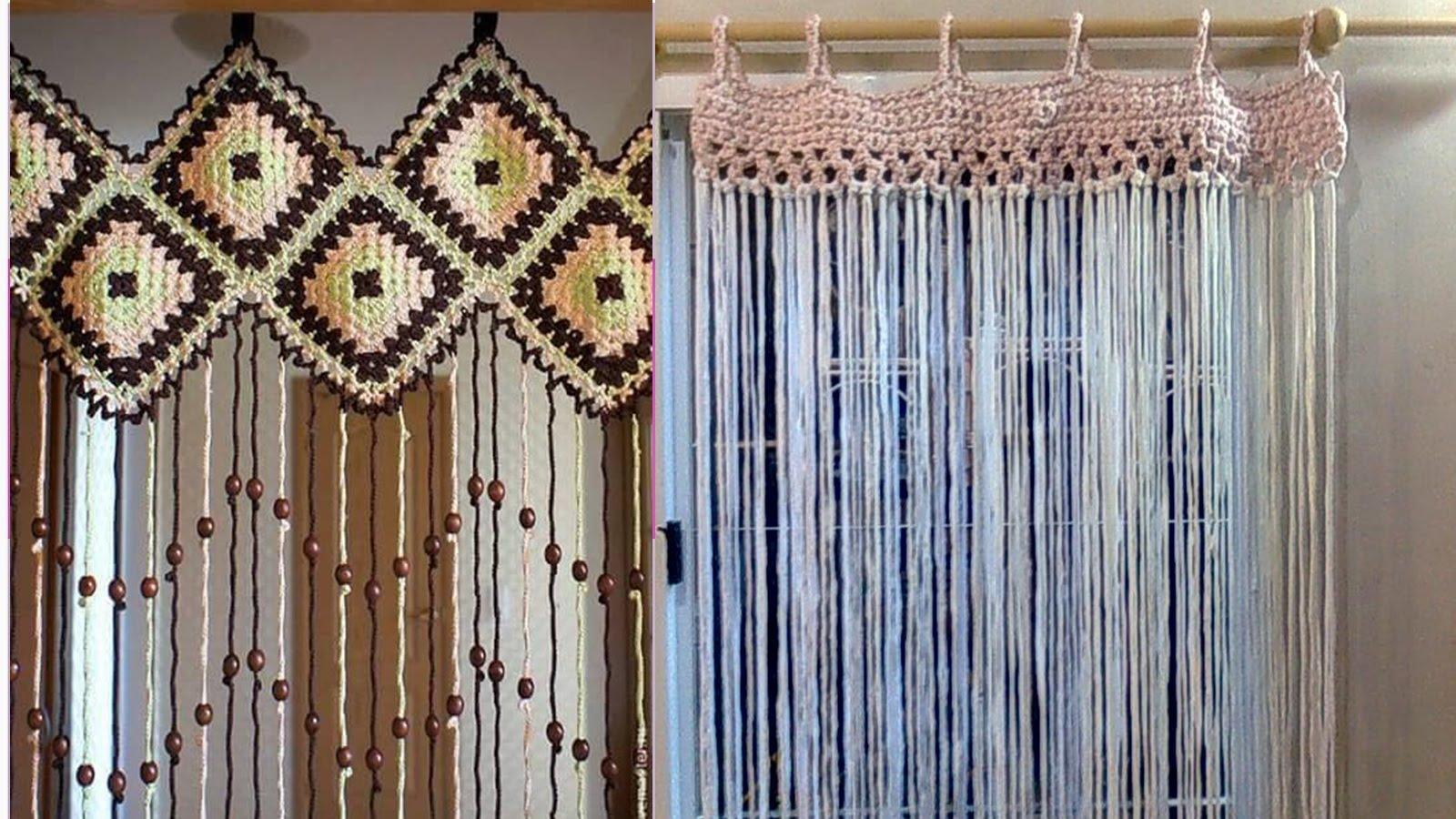 como hacer cortinas de ganchillo en diferentes modelos
