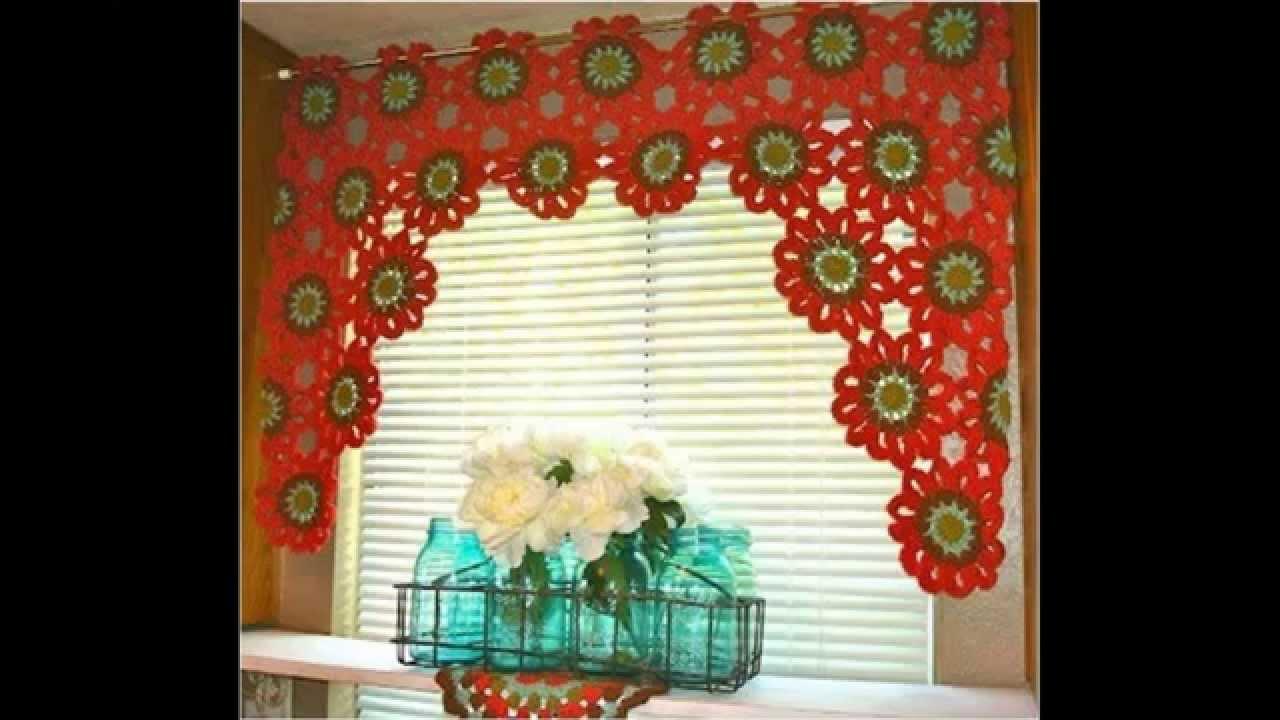 modelos tejido crochet cortina cocina cortina tejida al crochet para la ventana de mi cocina