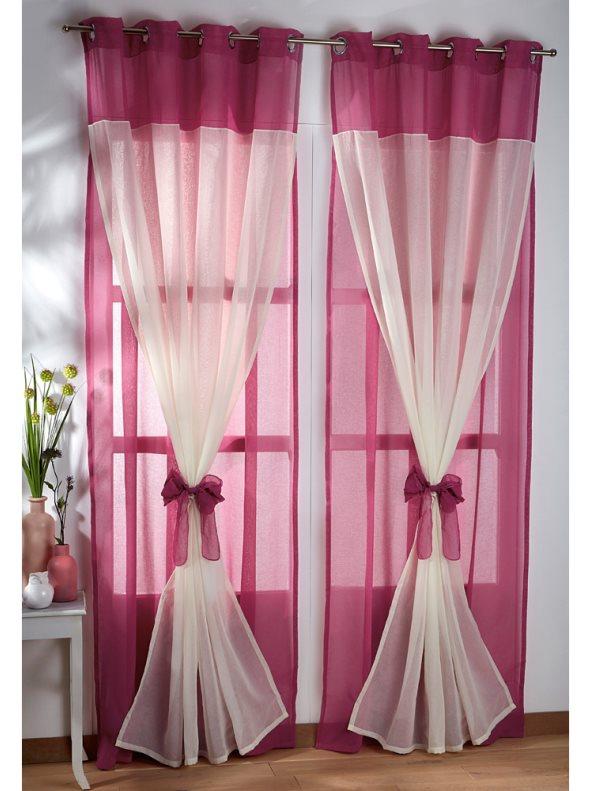 Como hacer cortinas de saln con dos tonos de color