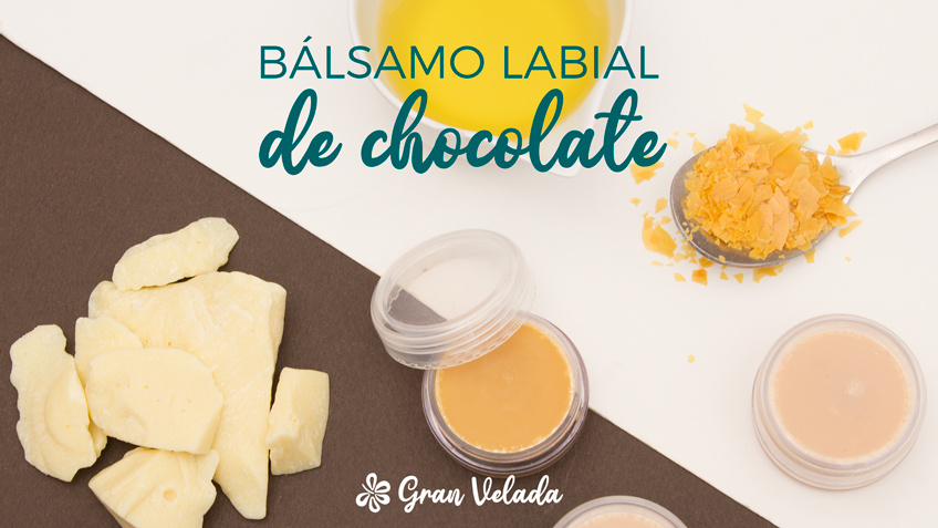 Balsamo labial de chocolate