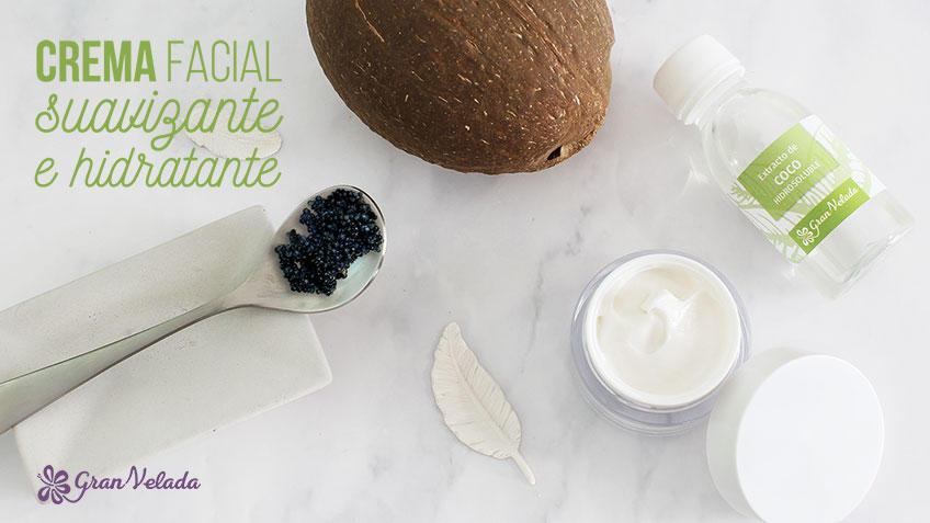 Crema facial suavizante hecha en casa con vídeo y paso a paso.