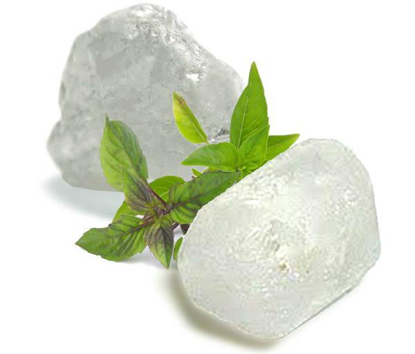 Desodorante natural, la piedra de alumbre