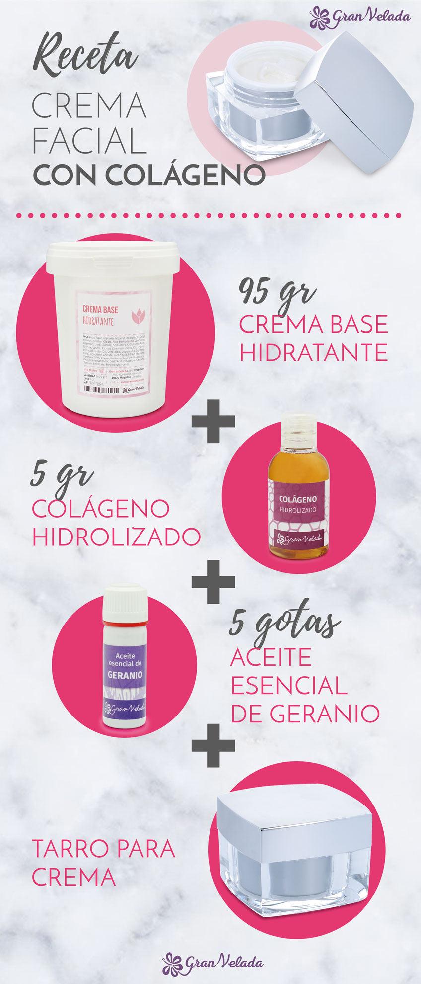 Como hacer crema facial con colageno