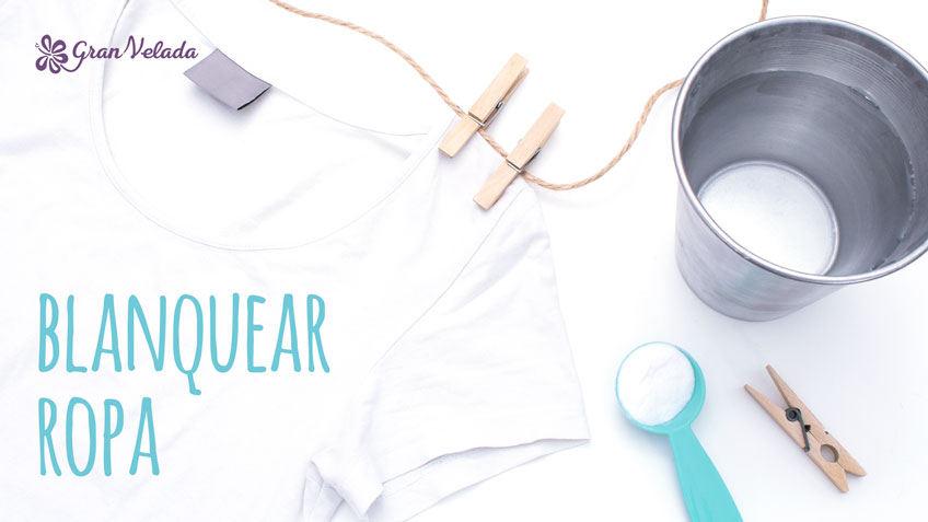 blanquear la ropa blanca en lavadora