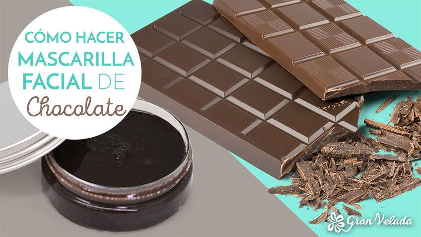 Mascarilla facial de chocolate