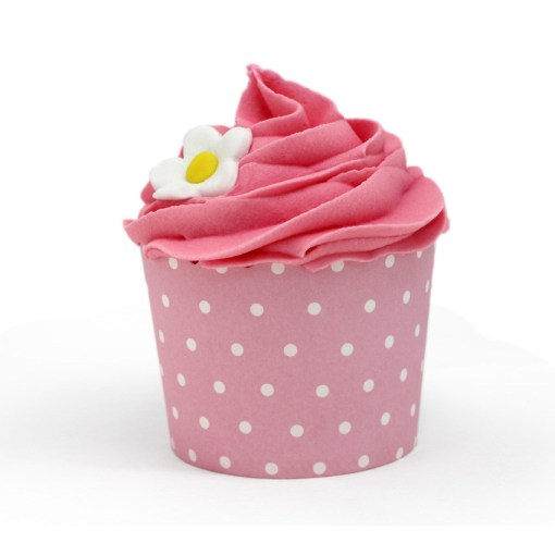 Cupcake rosa con florecita