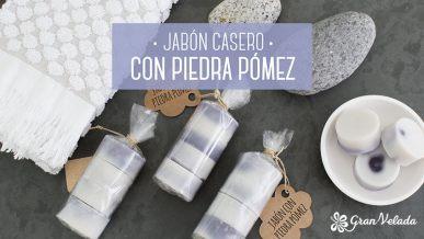 Tutorial para hacer jabon casero con piedra pomez con vídeo