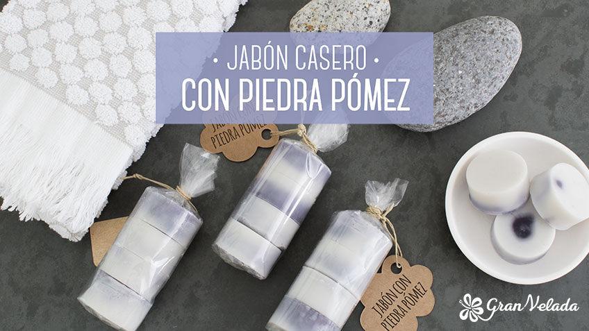 Jabon casero con piedra pomez