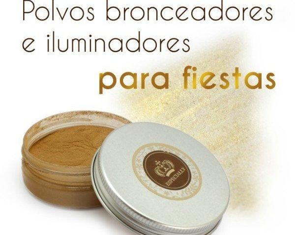 Maquillaje de Navidad: polvos bronceadores con brillo