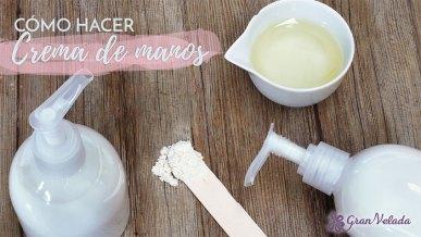 Tutorial para hacer crema de manos casera con vitaminas y proteína de seda