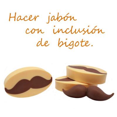 Hacer detalles de boda para hombres, jabón con forma de bigote
