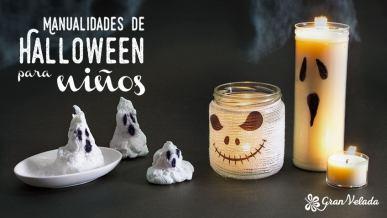 Tutorial con ideas de manualidades Halloween para niños caseras