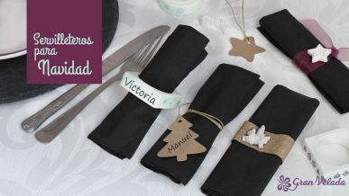 Tutorial con ideas para hacer adornos navideños caseros para la mesa .