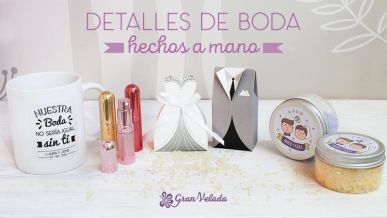 Detalles de boda hechos a mano