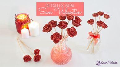 Hacer detalles para San Valentin de ramos de flores caseros con vídeo