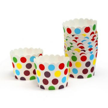 Cupcakes de lunares de colores