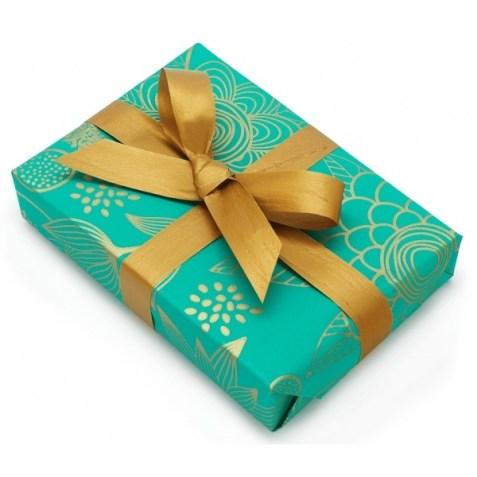 Papel de regalo turquesa