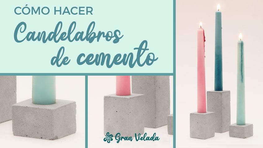 Candelabros de cemento