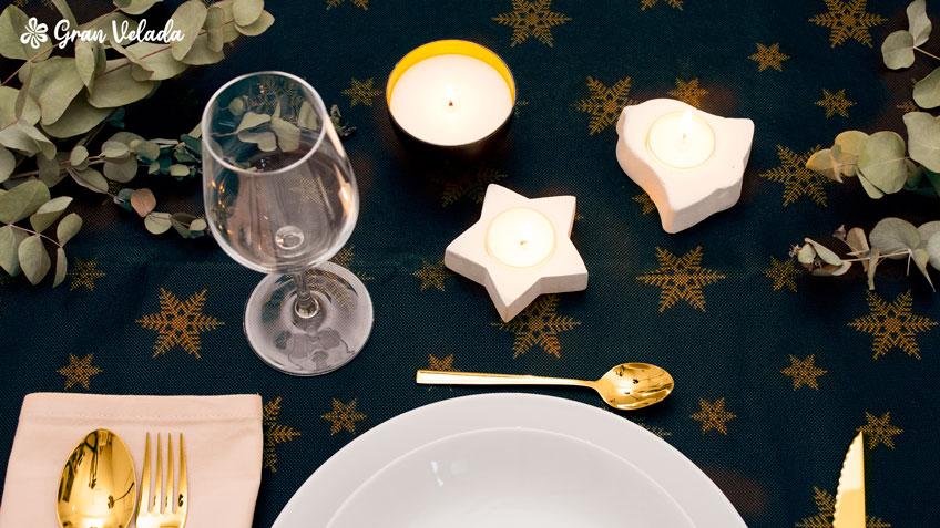 decoracion mesa de navidad casera
