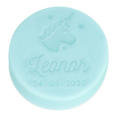 Pastilla personalizada con unicornio