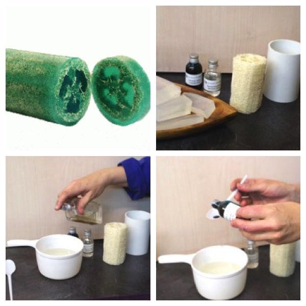 Como hacer jabon de luffa