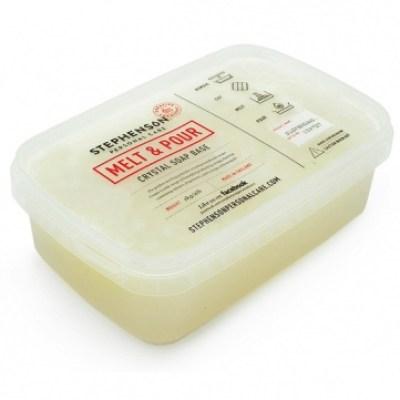 Jabon base para hacer jabon de glicerina con particulas en suspensión.