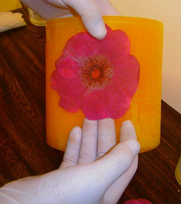 Paso 5 Hacer fanal con Flores decoupage.