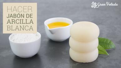Tutorial para aprender hacer jabón de arcilla blanca de glicerina para la limpieza de la piel con vídeo y paso a paso