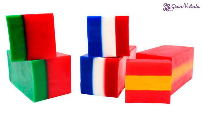 Jabones de banderas
