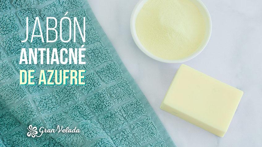 Jabon anti acne de azufre