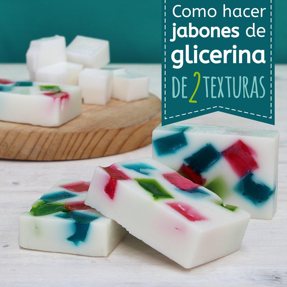 Jabones de dos texturas de glicerina hechos en casa - Para hacer jabon en casa ...